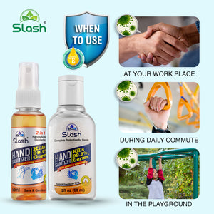 Slash® Hand Sanitizer 60ml - Super Smooth Ultra Moisturizing with Vitamin-E (Multi-Pack)