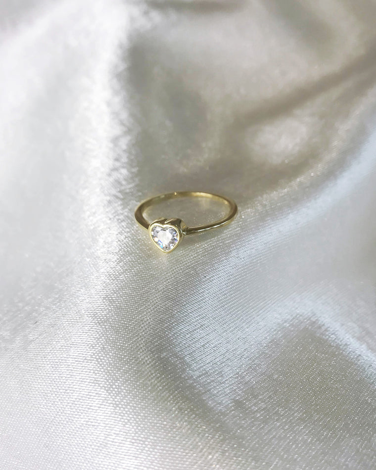 STARDUST - 'GLOWY HEART' Ring in 14k Gold