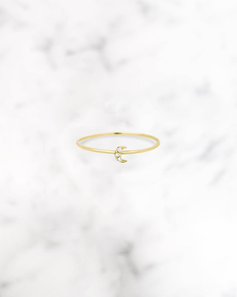 STARDUST - 'LUNA' Ring in 14k Gold