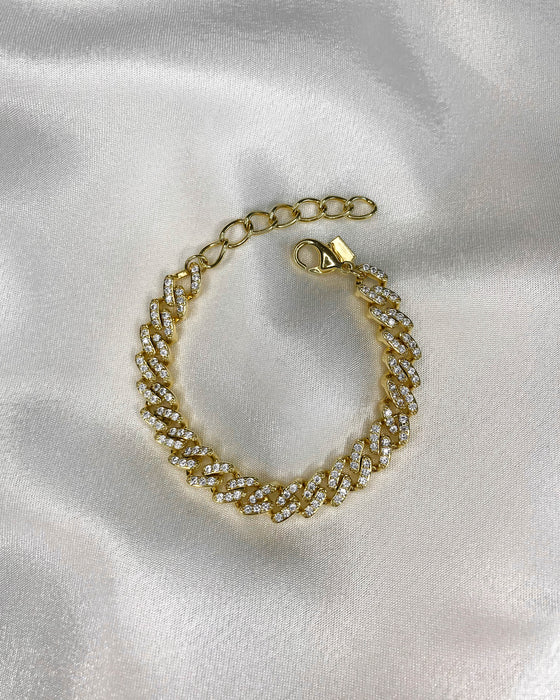 14K Vanilla Ice Cuban Chain Bracelet in Gold