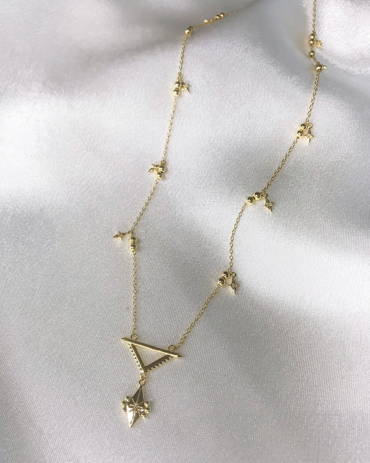 STARDUST - 'SUPERNOVA' Necklace in 14k Gold
