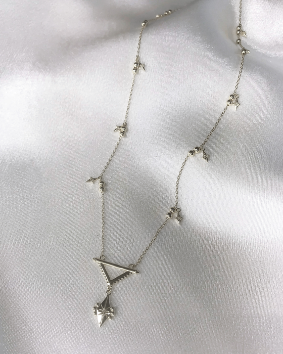 STARDUST - 'SUPERNOVA' Necklace in Silver
