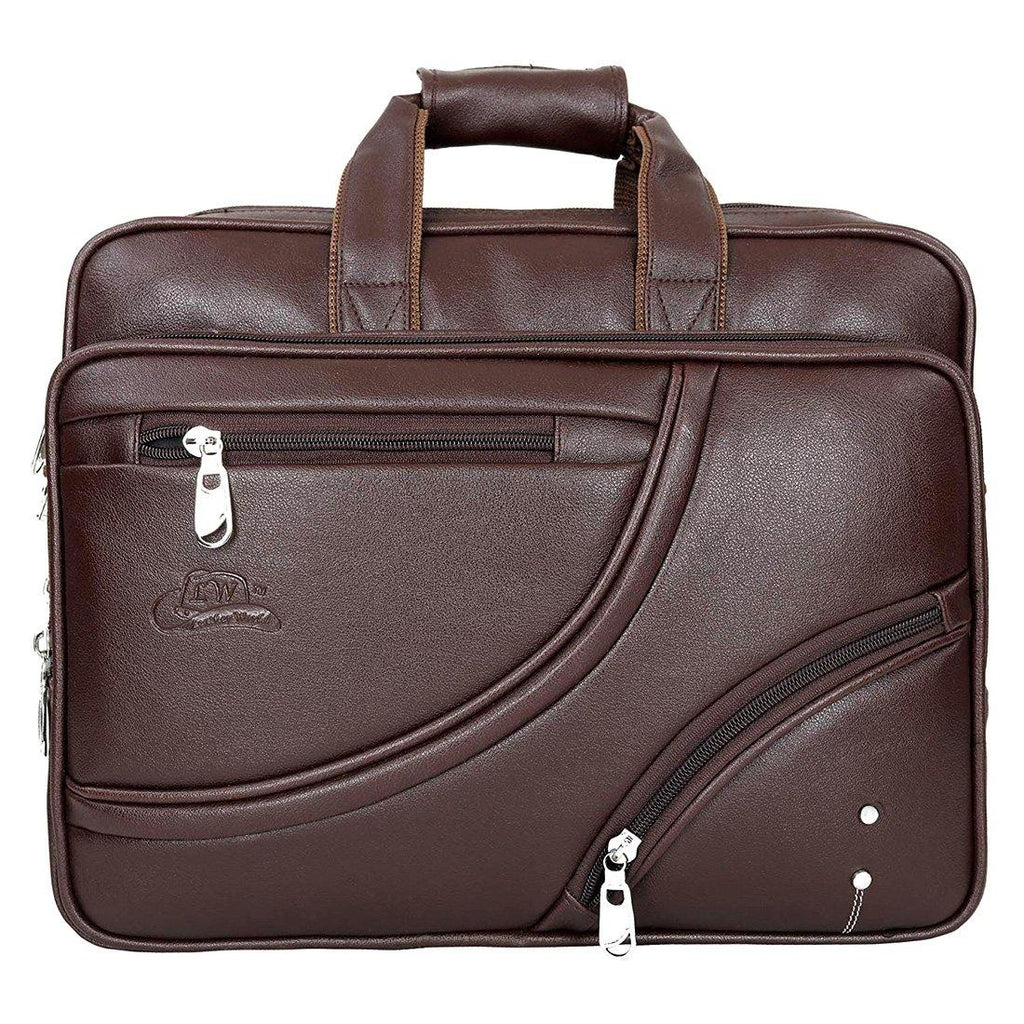 Leather World Expandable Classic Unisex Leatherette Office Laptop Bag - Leatherworldonline.net