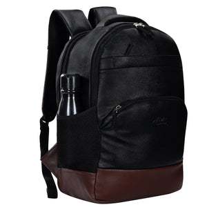 Leather World Stylish Backpack with a USB cable