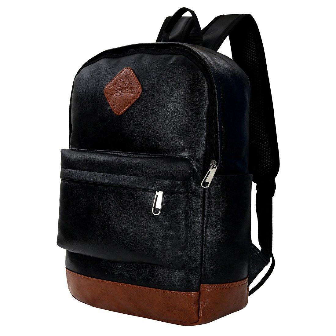 Leather World Breathable PU Leather Backpack