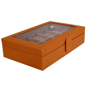 Leather World Leatherette Watch Box | 10 Slots