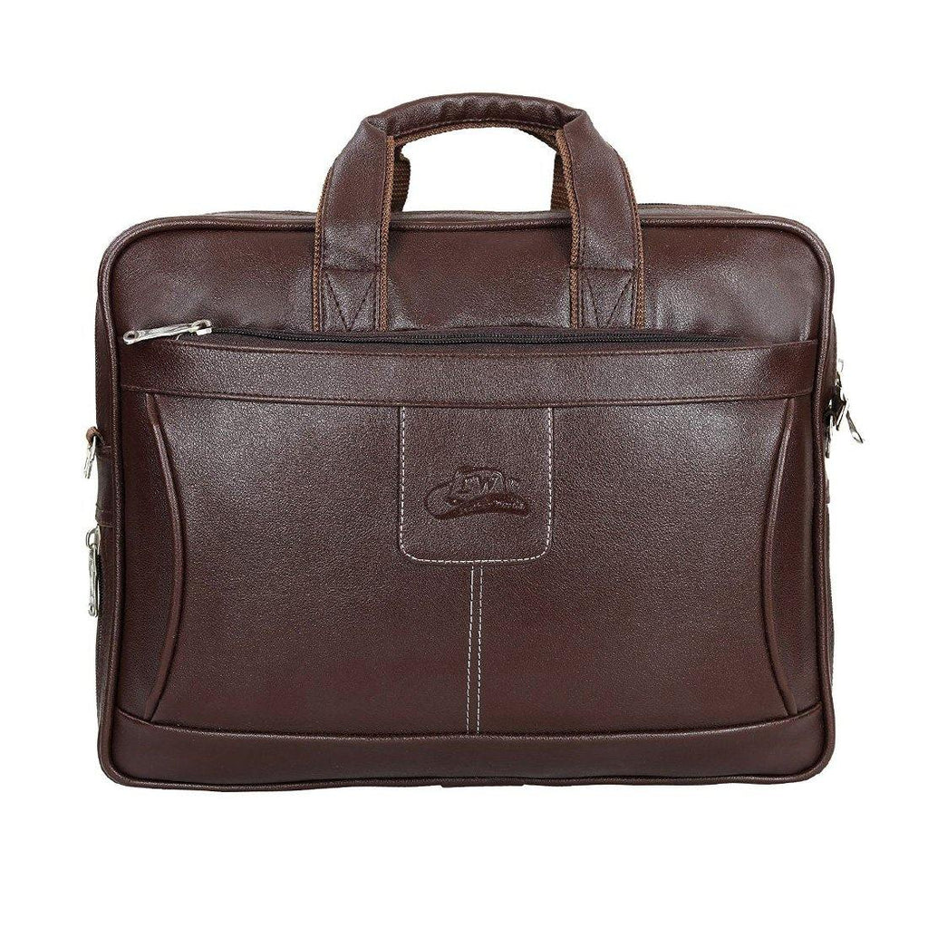 Leather World Unisex Stylish Leatherette Office Laptop Bag - Leatherworldonline.net