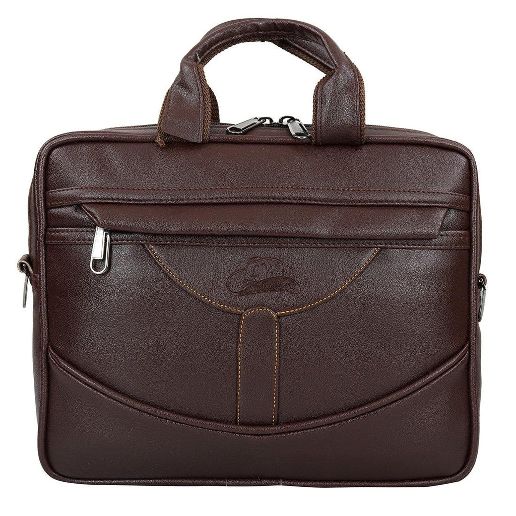 Leather World Superior Unisex Leatherette Office Laptop Bag - Leatherworldonline.net