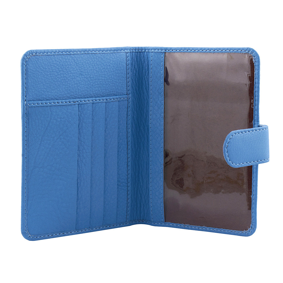 Genuine Gritty Leather Sky Blue Unisex Multi-Purpose Holder