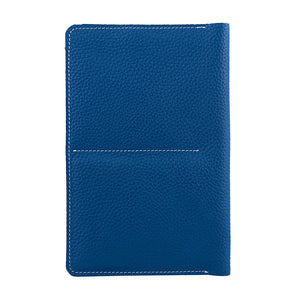 Genuine Grainy Leather Navy Blue Compact Multi-purpose For Unisex