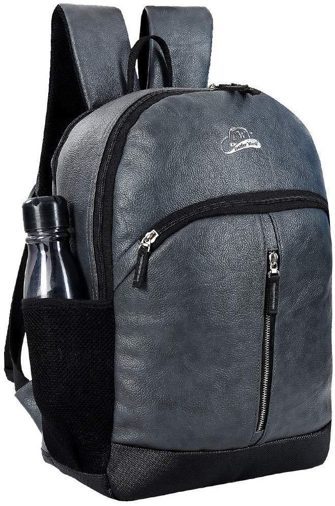 Leather World Water Resistant Backpack