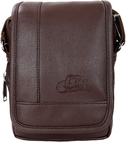 Leather World Men's Brown Travel Organizer Pouch