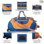 Load image into Gallery viewer, Rich Polyester Soft-Wheeler Duffel Bag - Leatherworldonline.net