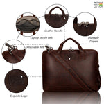 Load image into Gallery viewer, Leather World Unisex Office Bag | Laptop Sleeve | 15.6 inch