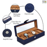 Load image into Gallery viewer, Leather World Unisex 6 Slots Watch Organiser Box - Leatherworldonline.net