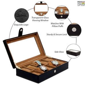 Leather World 2 in 1 Leatherette Watch Box