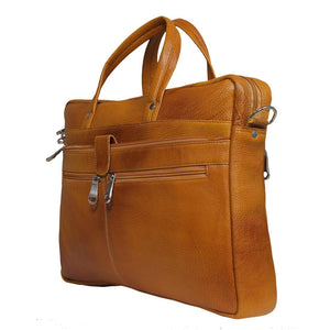 Leather World 8.5 Liter Rust Genuine Leather Designer Laptop with Zip Closure Travel Bag OB1002 - Leatherworldonline.net
