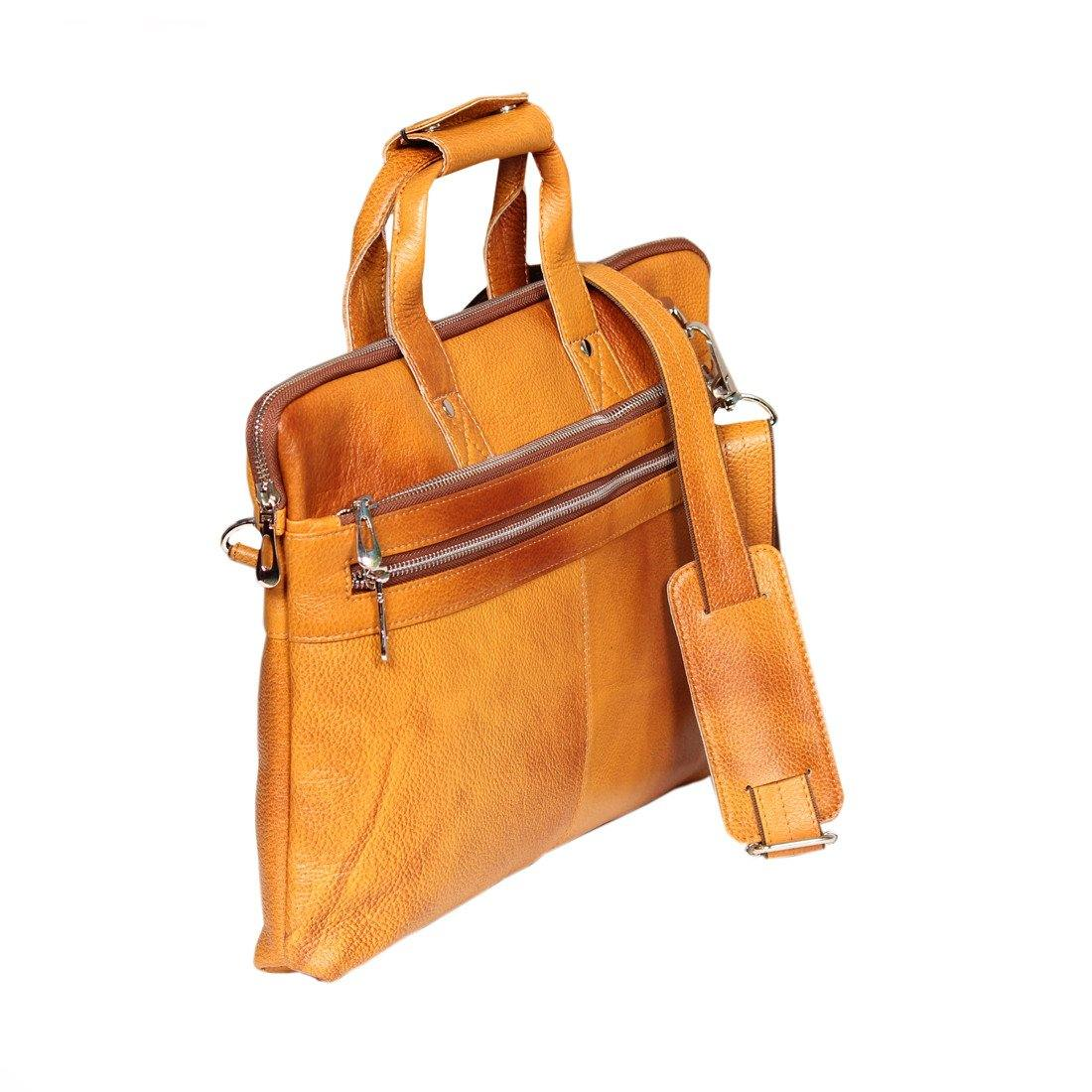 Leather World Classic Rust Mango Color Bag
