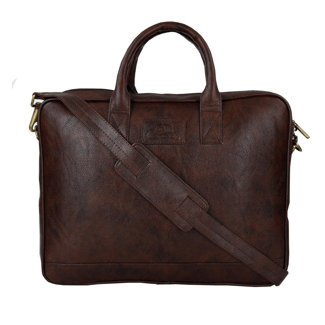 Leather World Unisex Office/Laptop Bag | 15.6 inch