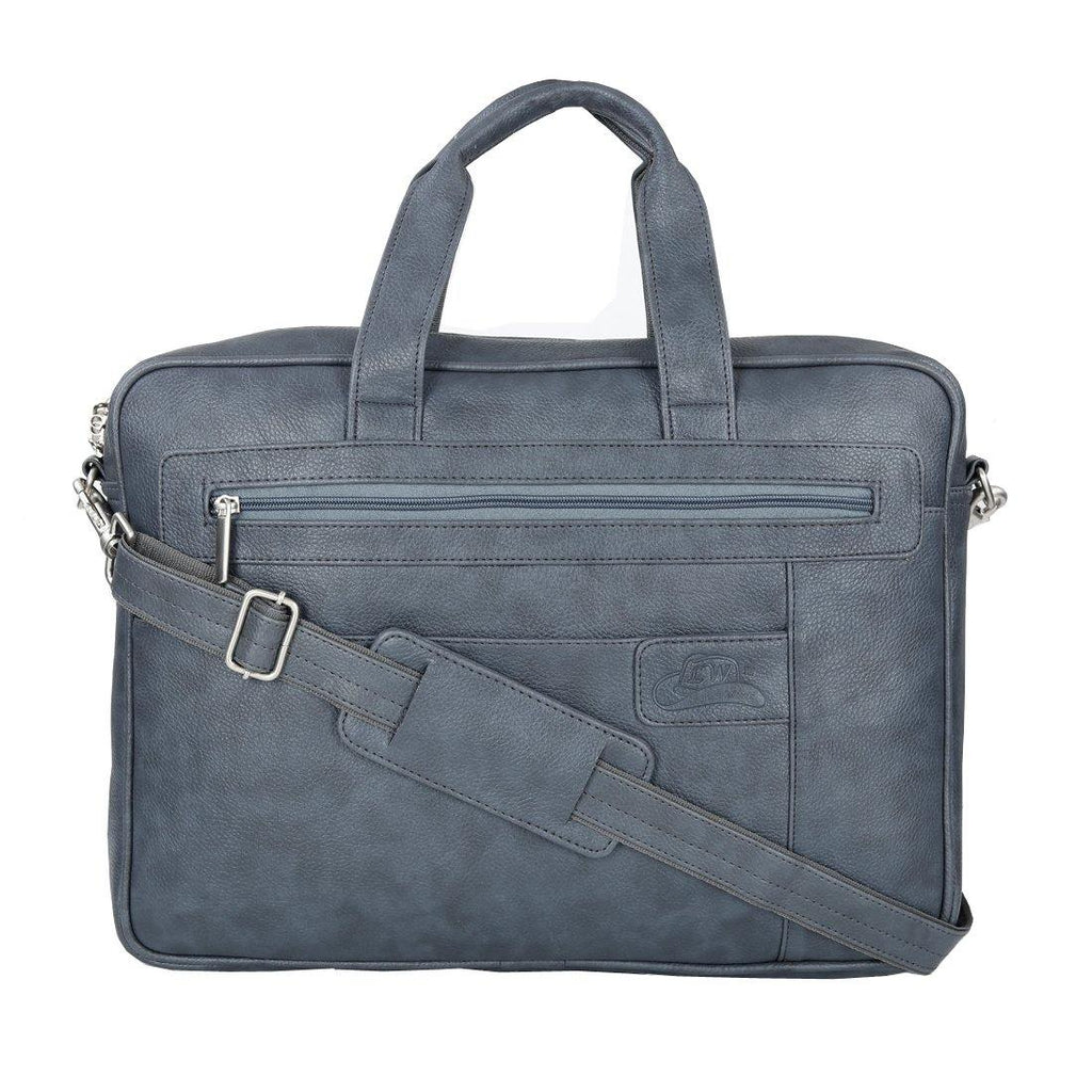 Stylish Grey Colour Office Laptop Bag - Leatherworldonline.net