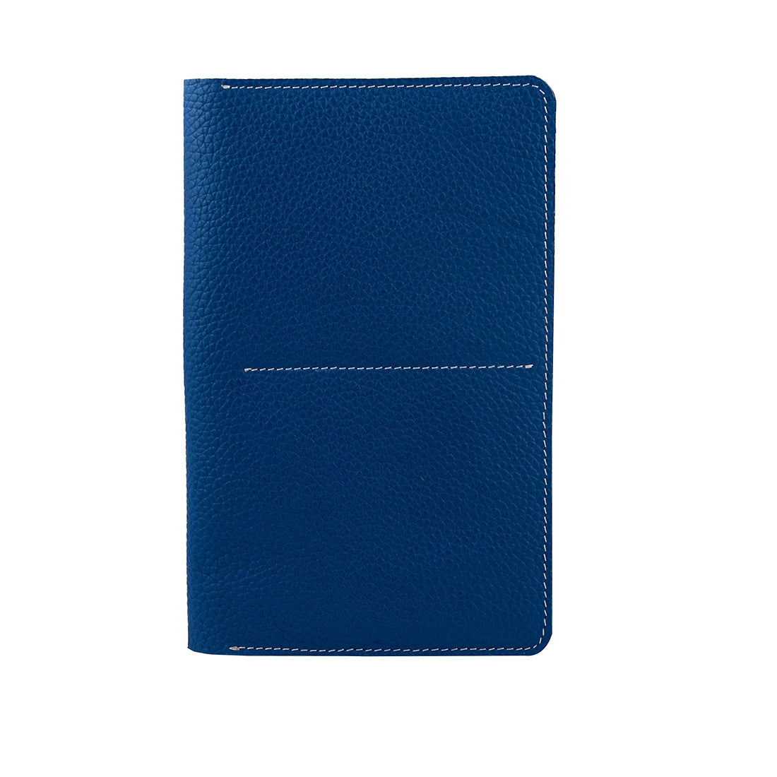 Genuine Grained Leather Unisex Dark Blue Multi-purpose Holder
