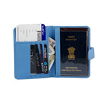 Load image into Gallery viewer, Genuine Grained Leather Unisex Trending Sky Blue Multi-purpose Holder