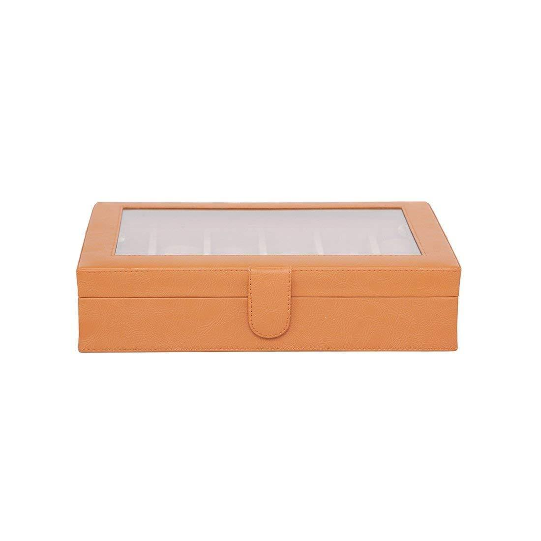 Leather World PU Leather watch box | 12 slots