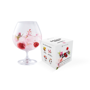 Load image into Gallery viewer, Secco Cocktail Garnish - Raspberry Rose Hibiscus cocktail flower garnish - for rose cocktail, hibiscus cocktail or rose gin cocktail