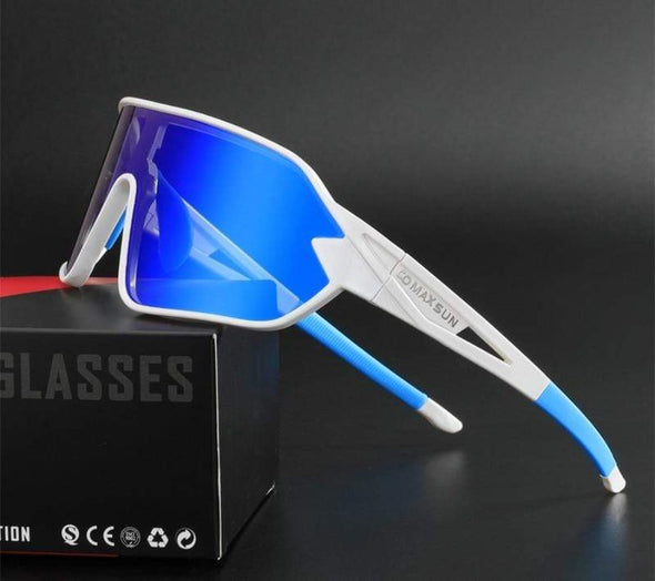 Sigvard Cycling Sunglasses - White-Blue