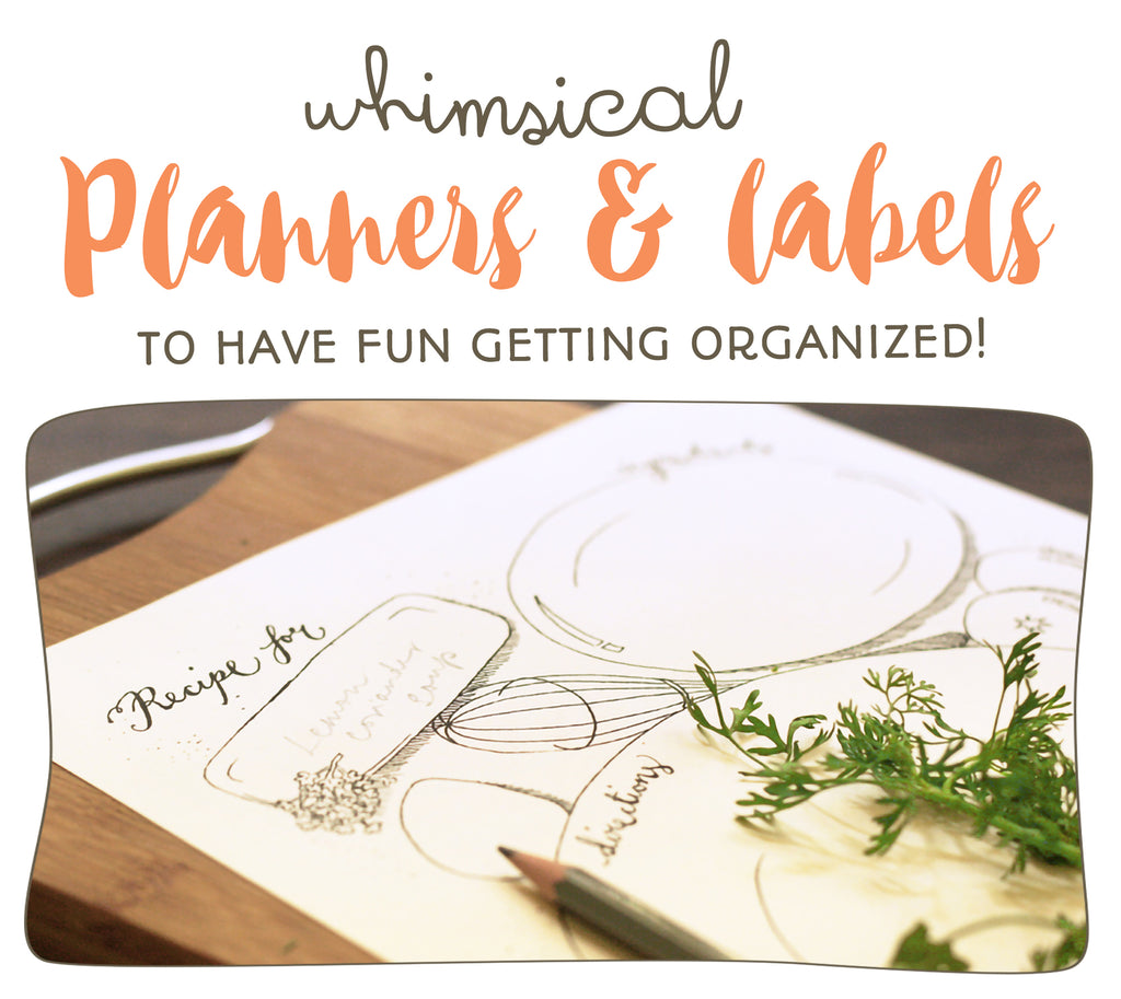 Planner label playing cards