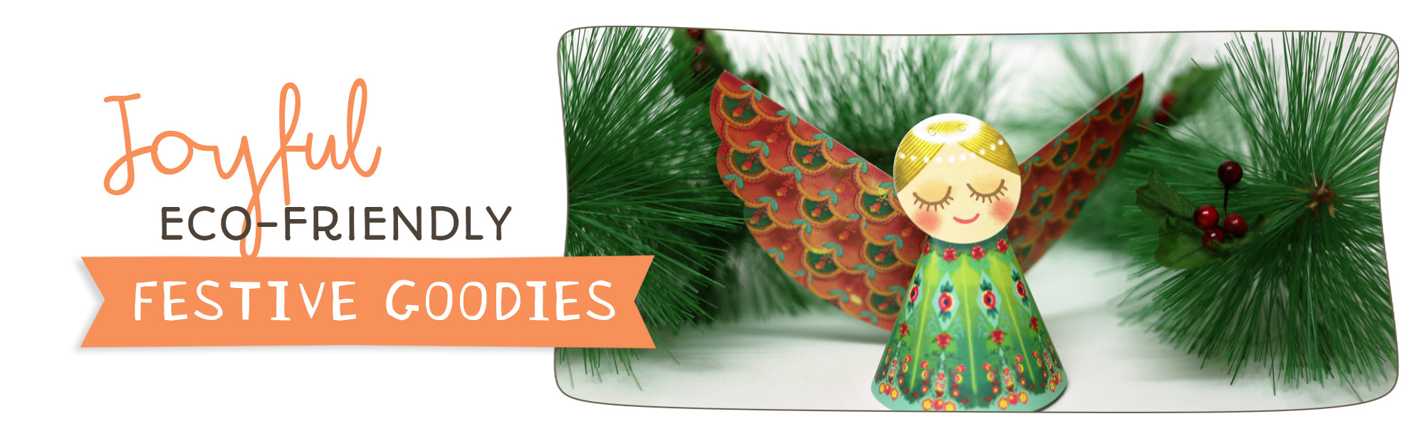 Joyful eco-friendly christmas decor and gift boxes