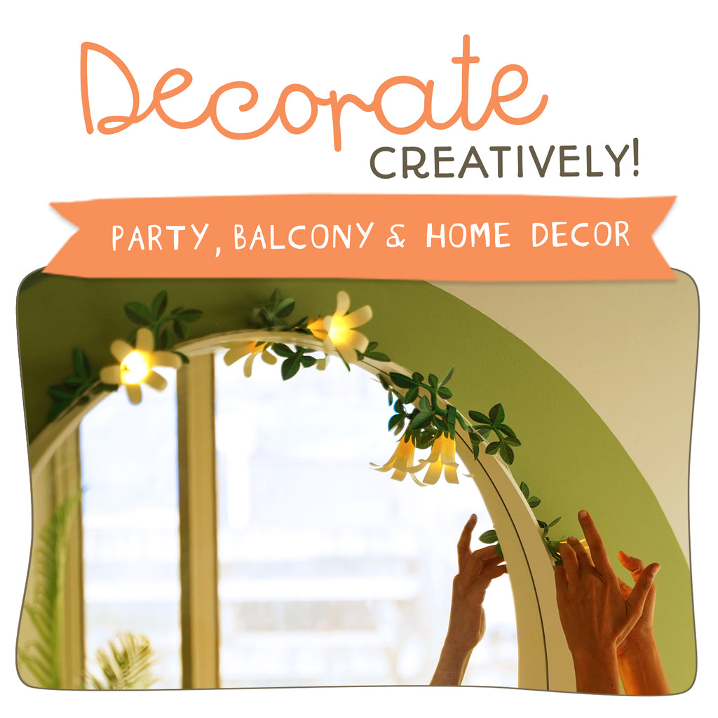decorate creatively... party, balcony, home decor