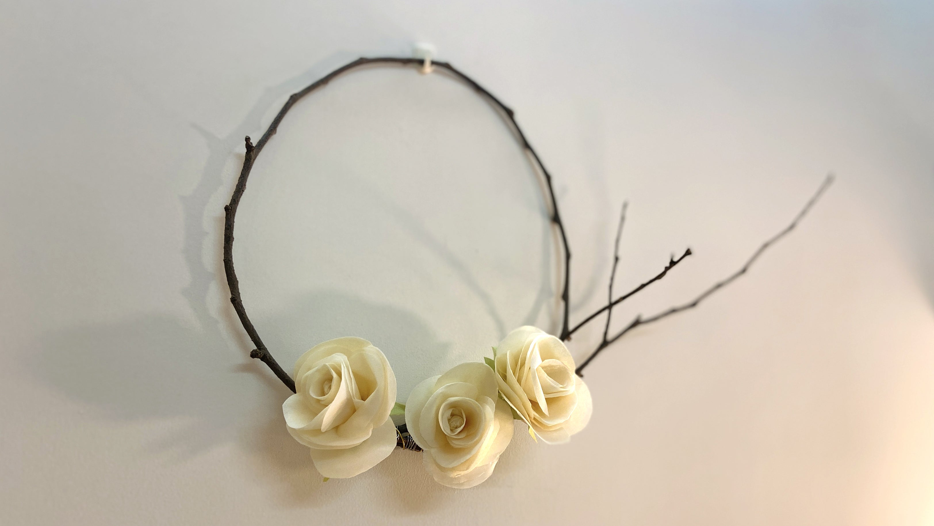 easy paper craft flower rose wreath
