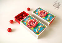 Small Matchbox Gift Box: ROSE