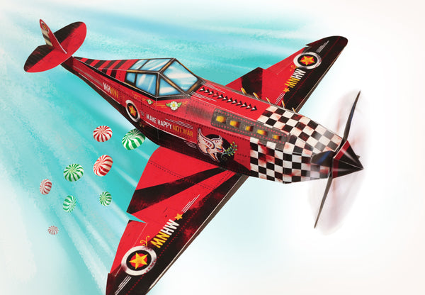 Candy Bomber Paper Aeroplane - DIY Paper Craft Kit