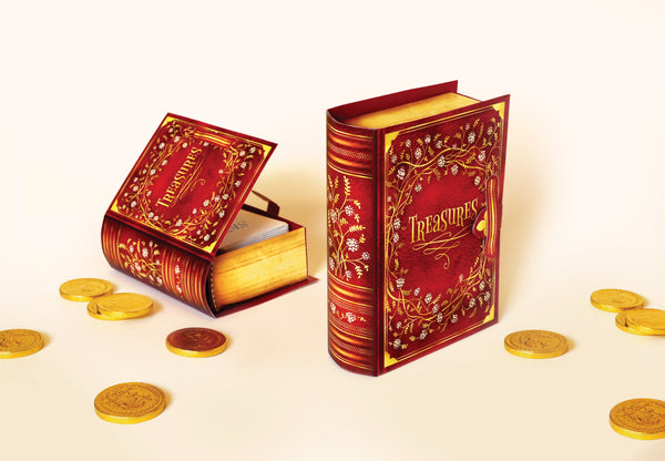 Mini Book Box: Red Design - DIY Paper Craft Kit