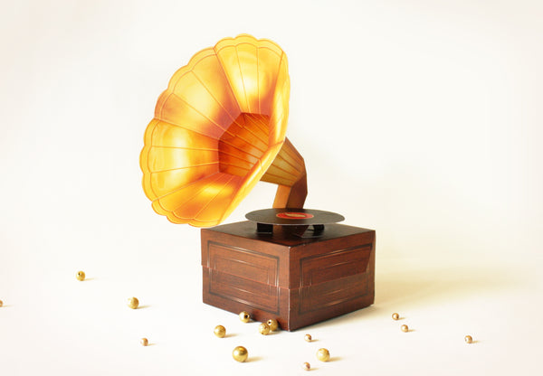 Mini Gramophone Box: Realistic Design - DIY Paper Craft Kit
