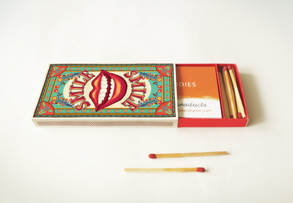 Matchbox Business Card Holder: SMILE - DIY Paper Craft Kit