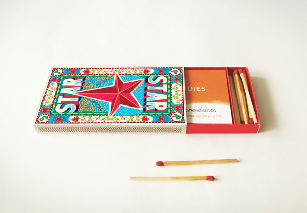 Matchbox Business Card Holder: STAR - DIY Paper Craft Kit