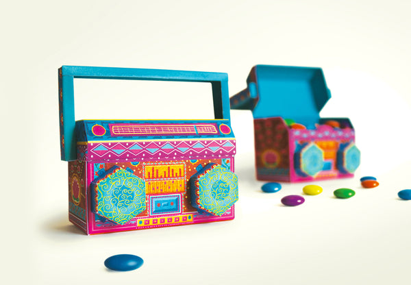 Colourful Boombox / Music System Mini Box - DIY Paper Craft Kit