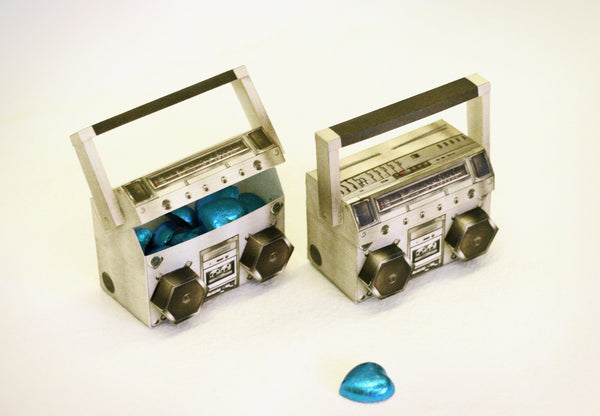 Realistic Mini Boombox / Music System: Mini Box - DIY Paper Craft Kit