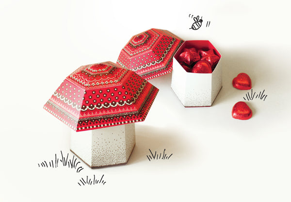 Mini Mushroom Box - DIY Paper Craft Kit