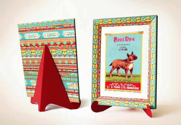 Colorful Frame - Straight Design | No Glue! Ready to assemble! DIY Paper Craft Kit