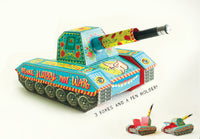 Colourful Army Paper Tank Pen Holder & Boxes - DIY Paper Craft Kit