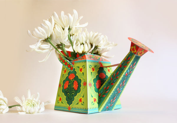 Watering Can Vase / Pen Holder - DIY Paper Craft Kit
