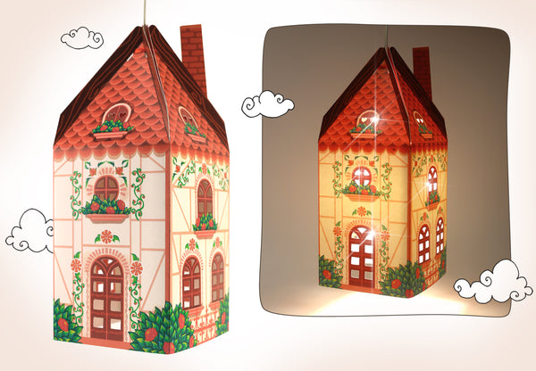 Happy Home Lamp Shade - DIY Paper Craft for Home Decoration