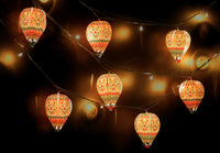 Set of 10 Mini Hot Air Balloon Paper Lamps (with Fairy Lights): Easy Paper Craft for Home Decoration