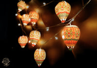 Party Combo Saver Pack of 50 Mini Hot Air Balloons + 5 Fairy Lights