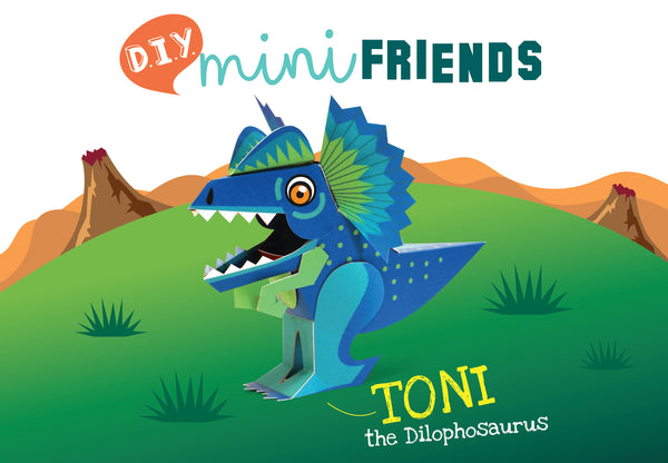 Mini Dilophosaurus Educational DIY Paper Craft Kit: Prehistoric Wildlife Series