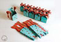Set of 10 Blue Bow Gift Boxes